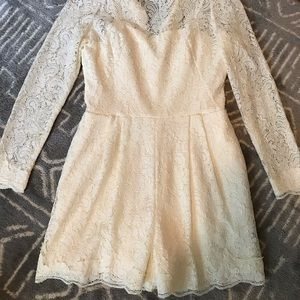 Off White Lace Romper from Anthropologie Bridal
